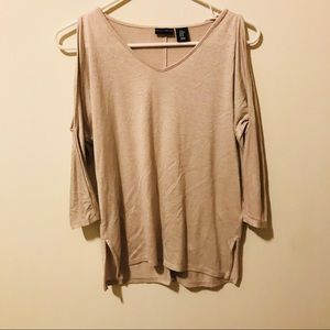 Willi Smith Shoulder Cut Out Long Sleeve Top 274